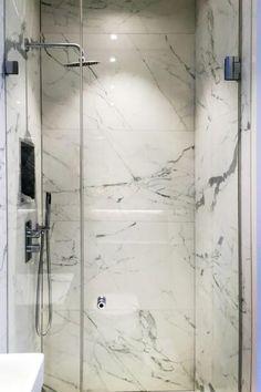 Frameless shower door with mini shower door sealing strips installed by Creative Glass Studio Sliding Shower Screens, Interior Decorating, Master Bathroom, Glass Shower, Door Sealing, Frameless Sliding Doors, Shower Doors, Frameless Shower Doors, Doors