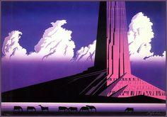 Purple Monument - Eyvind Earle - WikiArt.