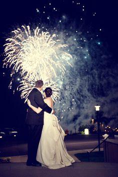 Wedding fireworks. San Diego.