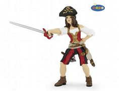 The Pirate Woman from the Papo Pirates collection - Discounts on all Papo Toys at Wonderland Models.    One of our favourite models in the Papo Pirates and Corsairs figure range is the Papo Pirate Woman.    Papo manufacture wonderful, amazingly accurate models of all sorts of toy figures, particularly pirates and corsairs including this model of the Pirate Woman which can be complemented by any of the items in the Pirate World range.
