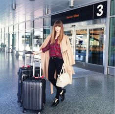 Cute Airport Outfit Ideas From Real Girls via @WhoWhatWear