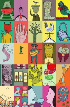 La loteria recreated images.  Choose your favorite!