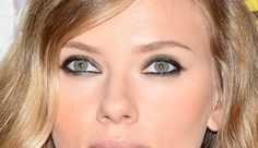 Scarlett Johansson with possibly the cleanest gray smoky eye look mankind as ever seen.