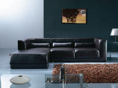 Tosca sectional in gray leather Diamante coffee table   Kasala   Industrial   Pinterest   Industrial Living rooms and Room : kasala sectional - Sectionals, Sofas & Couches