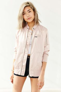 Members Only Satin Bomber Jacket - Urban Outfitters