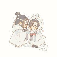 """snow bunnies for lan zhan"" Gay Harry Potter, Harry Potter Anime, Harry Potter Draco Malfoy, Yandere Manga, Anime Manga, Drawing Cartoon Faces, Chinese Cartoon, Cute Chibi, The Grandmaster"