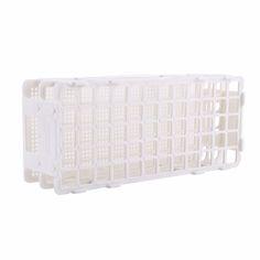 Uji Tabung Berdiri Pemegang Tabung Rak 60 Lubang Plastik Penyimpanan Berdiri Lab 3 Lapisan 16mm Lubang Uji-tabung Rak