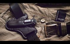 Custom made leather knife sheath