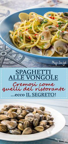 Spaghetti con le vongole. Il segreto per renderli cremosi come quelli del ristorante.
