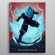 Goku by Eden Design Wall Art Prints, Poster Prints, Canvas Prints, Posters, Eden Design, Poster Making, New Artists, Print Artist, Sword Art Online