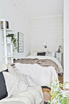 ein skandinavischer Stil von kleinem Schlafzimmer, kleines Schlafzimmer einrichten