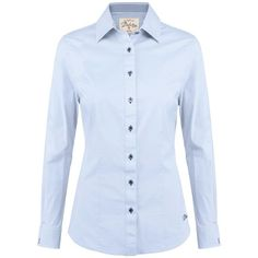 Women's Dubarry Carnation Blouse (4.755 RUB) ❤ liked on Polyvore featuring tops, blouses, shirts, embroidered blouse, embroidery blouses, blue checkered shirt, long sleeve blouse and long-sleeve shirt