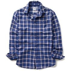 Crew Clothing Blue Oarsten Check Cotton Shirt