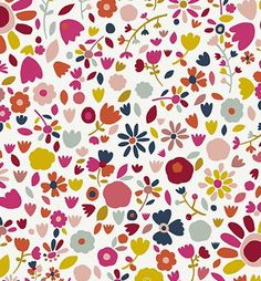 chartreuse and pinks Pretty Patterns, Beautiful Patterns, Flower Patterns, Color Patterns, Pattern Paper, Pattern Art, Pattern Fabric, Folk Art Flowers, Textile Patterns