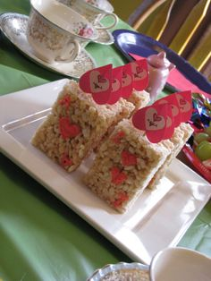 Rice crispy soldiers