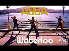 """A NEVER STOP DANCING dance fitness routine to """"Waterloo"""" by ABBA - don't forget to watch in HD. Thank you to Georgia and Hazel for dancing with me in this vi. Zumba Workout Videos, Zumba Videos, Hip Workout, Dance Videos, Dance Workouts, Line Dance Songs, Dance Music, Country Line Dancing, Diy Home"""