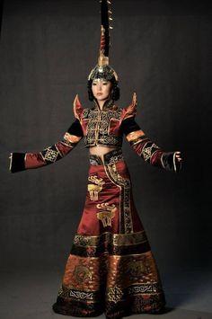 Tuvan folk costume.