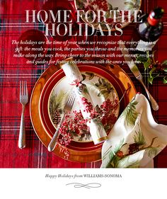 Home for the Holidays | Holiday Entertaining Guide from Williams-Sonoma