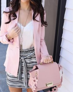 pink blazer, outfit for work, summer work outfit
