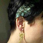 My feather headband and my drop dragon earrings