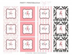 FREE PRINTABLES: Breast Cancer Awareness Party Labels