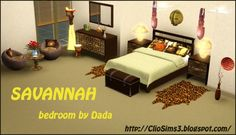 Savannah Bedroom at Clio Sims 3 - Sims 3 Finds