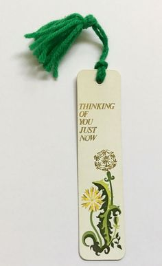 Vintage SIGNED with NAME on Back Thinking of You Just Now Antioch Bookmark 1972  #Antioch Vintage Bookmarks, Just Now, Gold Ink, Cool Names, Vintage Signs, Thinking Of You, Detail, Ebay, Thinking About You
