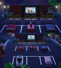 Post with 7 votes and 2653 views. Shared by VivienneVenom. ACNH Parking Lot and Curtain Codes - Used in my drive-in Animal Crossing 3ds, Cabello Animal Crossing, Animal Crossing Wild World, Animal Crossing Qr Codes Clothes, Drive In Cinema, Drive In Movie Theater, Animal Games, My Animal, Outdoor Cinema