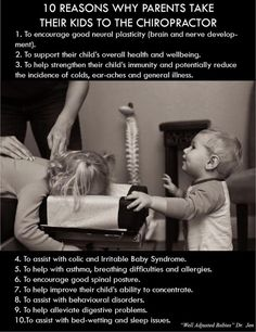 #Chiropractic for #Kids.  Find out why all your girl friends take their kids to chiropractors!  Borer Family Chiropractic 210 W. Michigan Ave. Saline MI (734) 944-7200 http://borerchiro.com/colicearinfectionsolutions.html Chiropractic Quotes, Chiropractic Center, Family Chiropractic, Clinic, Best Chiropractor, Memory Games, Homeopathy, Asthma, Massage Therapy