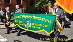 Custom Embroidered Parade Banner for the Ancient order of Hibernians (AOH).