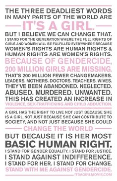 its a girl womens rights poster