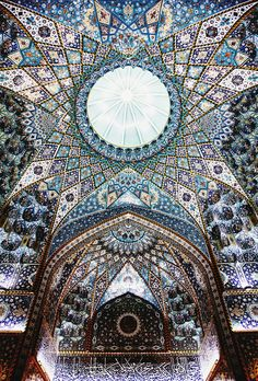 ceilng of the imam hussein shrine, karbala, iraq | islamic art + architecture, traditional