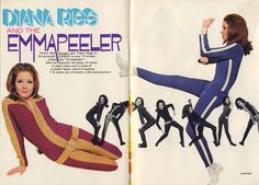 "Diana Rigg ""Emmapeeler"" Avengers fashion photographed by Terry O'Neill ~ TV Guide June 1967"