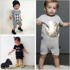 2017 New Baby Boys Short Sleeve Romper Infant Baby Summer One-piece Jumpsuit Newborn Boys Girls Clothes Kids Children Overall #Affiliate