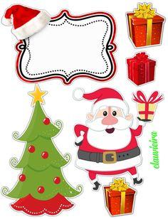 Christmas Printables, Christmas Themes, Christmas Crafts, Merry Christmas, Xmas, Holiday Decor, Christmas Cake Topper, Christmas Cookies, Baby Mickey