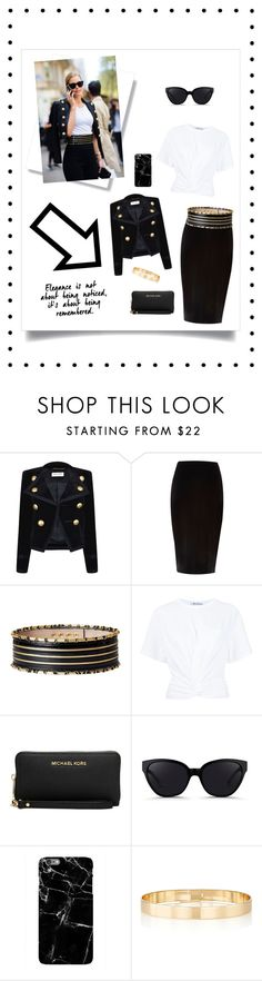 """Let's go for a walk"" by gabgirl54321 ❤ liked on Polyvore featuring Yves Saint Laurent, River Island, Balmain, T By Alexander Wang, Michael Kors, 3.1 Phillip Lim and Jules Smith"