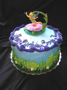 Tinkerbell on 8in round | Giggy's Cakes and Sweets | Flickr