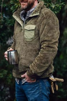 Kodiak Fleece Pullover - Birchwood Green Klasszikus Férfi Divat 2456cb315a