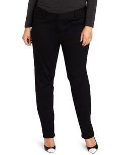 DKNYC Women's Ponte Skinny Pant, Black, 22W DKNYC. $109.00