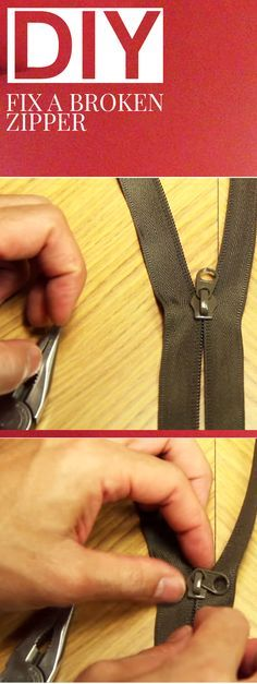 The Trick To Fixing Any Zipper
