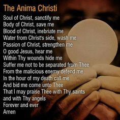 Eucharist, my favorite prayer after receiving Jesus. :)
