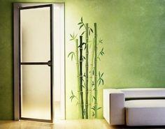 Wandsticker Bambusstrauch B x H: 30cm x 85cm (erhältlich in 5 Größen)