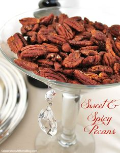 Our classic sweet & spicy pecans we serve at holiday parties  #AlexiaHolidays