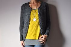 """Neon cardigan sweater pattern by Joji Locatelli (knitting, lace, top-down, seamless, contiguous sleeves) // featured in """"New Favorites: Slightly lacy cardigans"""": http://fringeassociation.com/2013/02/19/new-favorites-slightly-lacy-cardigans/"""