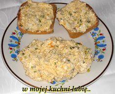 W Mojej Kuchni Lubię..: pasta z jajek,czosnku i twarogu...