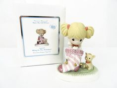 Precious Moments Bling in The Holidays 131016 Stocking Girl Cat New  #PreciousMoments #131016