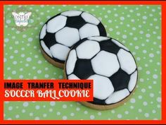 ▶ How to transfer image to your cookie dough - how to make a soccer ball cookie - YouTube