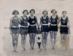 1931 photograph of American Red Cross Life Guards at Jacksonville Beach, FL. (Beaches Area Historical Society)