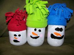decorations or gifts that the kiddos can make from old baby food, or other small jars