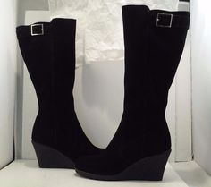 2d50dba6de2 La Canadienne Kacy Women s Waterproof Black Suede Knee High Boots Size US  9.5 M  LaCanadienne